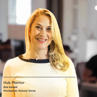 Eve Iravani, Hub Mentor and founder of Montpellier Natural Stone