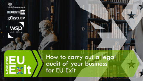 How to carry out a legal audit of your business for EU Exit